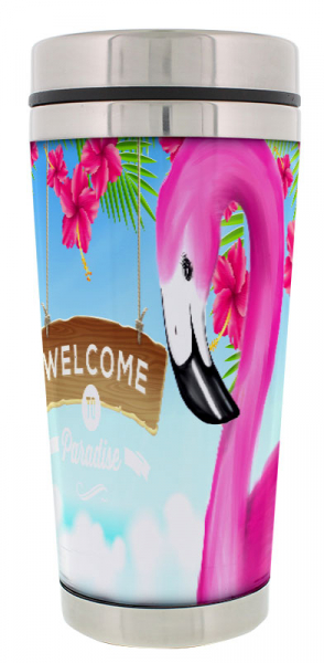 Thermobecher Flamingo Welcome to Paradise